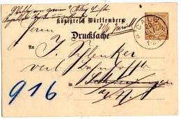 Carte Postale Repiquée (Privät) De Calw (20.10.1902) Drucksache_Imprimé_Zurück - Wurtemberg