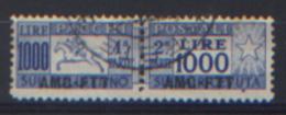 Trieste A 1954 Pacchi Postali Cavallino Sass.PP.26 Usati/Used  VF/F - Colis Postaux/concession