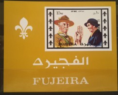 GS22 - Fujeira 1971 Block 72 MNH S/S - Baden-Powell, Scouts - Fujeira