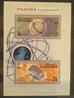 GS22 - Fujeira 1966 Block 4A MNH S/S - Telecommunications, Satelite - Fujeira