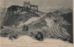 Rigi-Kulm Und Die Alpen Mit Bahn - Belebt Animee - Photoglob No. 461 - SZ Schwyz