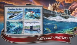 TOGO 2016 - Submarines. Official Issue.