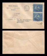 B)1948 CUBA - CARIBE, MOTHER AND CHILD, WITHDRAWAL OF COMMUNICATIONS, CIRCULATED COVER FROM MATANZAS, XF - Cuba