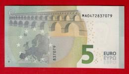 PORTUGAL - 5 EURO M002C1 DRAGHI - M002 C1 - MA0472837079 - UNC NEUF - FDS - EURO