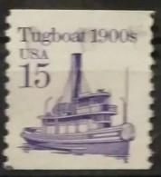 ESTADOS UNIDOS 1987 -1988. Historia Del Transporte. Reimpresión. Ruleta. Den: 10 Vertical. USADO - USED. - United States