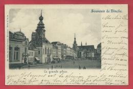 Souvenir De Binche -  La Grande Place - Carte Précurseur, Série Nels - 1899 ( Voir Verso ) - Binche