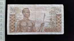 Billet De 20 Francs Caisse Centrale De La France D´Outre Mer - Autres