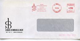 EMA Industrie Emballage,verre,industrie Alimentaire BSN Gervais Danone 62 Wingles,lettre Obliterée 5.10.1984 - Factories & Industries
