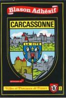 """Blason Adhésif Des Villes Et Provinces De France :  """" Carcassonne """" - France"""