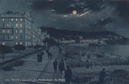 G , Cp , 06 , NICE , La Nuit , La Promenade Du Midi - Nizza By Night