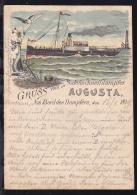 Gruss Vom Salonschnelldampfer Augusta, 1899 - Paquebots