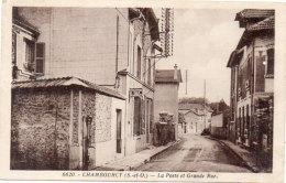CHAMBOURCY - La Poste Et Grande Rue   (90880) - Chambourcy