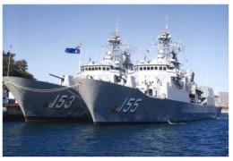 (345) HMAS Stuart And Ballarat ANZAC Frigates Warship - Warships