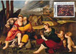 D25648 CARTE MAXIMUM CARD 2015 NETHERLANDS - LOT AND HIS DAUGHTERS BY BONIFACIO De' PITATI - NUDE - CP ORIGINAL - Nudes