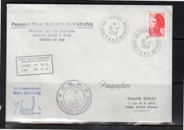 1988  C.G.M. Marion Dufresne Kerguelen Marc Soviche (po40) - Covers & Documents