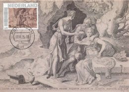 D25659 CARTE MAXIMUM CARD 2015 NETHERLANDS - LOT AND HIS DAUGHTERS BY FRANS FLORIS - NUDE - CP ORIGINAL - Nudes