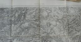 Carte D'Etat Major N° 175 BRIOUDE Levé Par Les Officiers Du Corps D'Etat Major Révision De 1886, Au 1/80 000 ème - Cartes Topographiques
