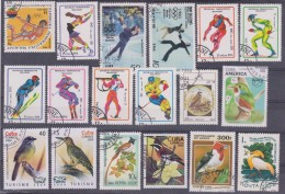 LOT OF USED STAMPS DEPORTES SPORTS ANIMALES  ANIMALS BIRDS PAJAROS  PAISES  COUNTRIES VARIOS  VARIOUS   S-1701 - Sellos
