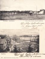 ENGELSBERG - WOOD FACTORY, 2 POSTCARDS - Zweden