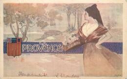 LA PROVENCE - Blason, Carte Illustrée. - Provence-Alpes-Côte D'Azur