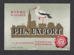 Etiquette De Bière D'Alsace  -  Pils Export  -  Strasbourg Schiltigheim  (67) - Cerveza