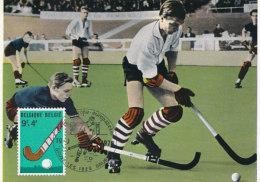 D25622 CARTE MAXIMUM CARD TRIPLE 1970 BELGIUM - FIELD HOCKEY CP ORIGINAL - Hockey (Field)