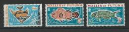 WALLIS - TAXE YVERT N° 37/39 ** MNH - COTE = 6 EUROS - POISSONS - Unused Stamps