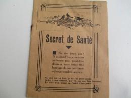 Petit Fascicule/Catalogue/Secret De Santé/Marailhac/Choisy Le Roi/Ploton Et Chave/St Etienne/Vers 1910-1930       PARF92 - Publicidad
