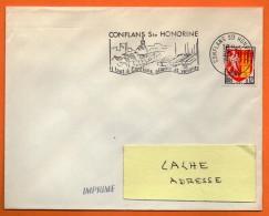CONFLANS STE HONORINE   ALLANTS ET VENANTS     25 / 8 / 1964  Lettre Entière N° BB168 - Marcophilie (Lettres)