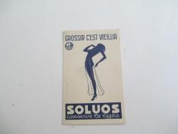 Petite Carte De Pesée De Bébé / SOLUOS/ Grossir C'est Vieillir/ Sauba/ Conserve La Ligne/1932       PARF91 - Advertising