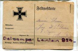- Feldpostkarte - Allemagne - écrite Par Un Prisonnier, En 1915, Croix Noire, Pour L'Hérault, Scans, écrite Au Verso. - Deutschland