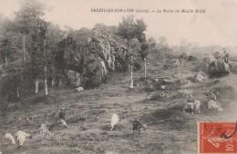 CHAZELLES SUR LYON -42- LA ROCHE DU MOULIN BRULE - France