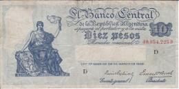 BILLETE DE ARGENTINA DE 10 PESOS DEL AÑO 1935 (BANKNOTE) - Argentina