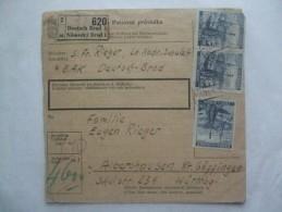 BOHEMIA AND MORAVIA PAKETKARTE FROM NEMECKY BROD TO ALBERSHAUSEN GOPPINGEN GERMANY 12/7/1941 - Böhmen Und Mähren