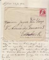 EAC N°74 O. Lavaux 1911 -> Etterbeeck Cachet De Cire (2 Scans) - 1905 Thick Beard