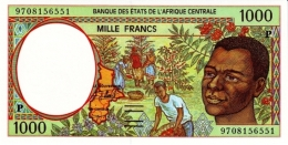 East African States - Afrique Centrale Tchad 1997 Billet 1000 Francs Pick 602 D Neuf 1er Choix UNC - Tchad