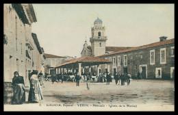 ORENSE - VERIN - FEIRAS E MERCADOS - Mercado - Iglesia De La Merced ( Nº 5) Carte Postale - Orense