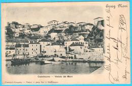 CASTELNUOVO ... ERZEG NOVI ... HERCEG-NOVI ... VEDUTA DAL MARE  ( Montenegro ) * Travelled 1990. * Bocca Di Cattaro - Montenegro