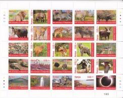 2013 Kenya Independence Anniversary  Miniature Sheet Of 20 X 110/- Stamps  African Wildlife Eclipse - Kenia (1963-...)