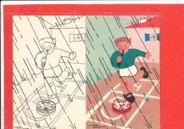 PUBLICITE REGLISSE ZAN Cpa Animée ENFANT MARELLE Illustrateur André Dagand - Dibujos De Niños