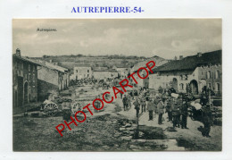 AUTREPIERRE-Evacuation De CIVILS-CARTE Allemande-Guerre 14-18-1 WK-France-54-Feldpost- - France