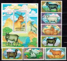 MDA-BK30-091 MINT POSTFRIS ¤ MONGOLIA 1989 KOMPL. SET ¤ MAMMALS - BEAUTY STAMPS FROM MONGOLIE - Gibier