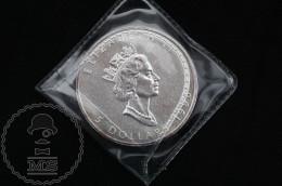 1996 Canadian 5 Dollars 9999 Fine Silver 1 Oz - Canada - Elizabeth II - Canada