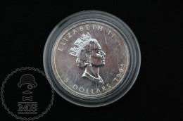 1995 Canadian 5 Dollars 9999 Fine Silver 1 Oz - Canada - Elizabeth II - Canada
