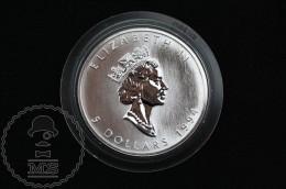 1994 Canadian 5 Dollars 9999 Fine Silver 1 Oz - Canada - Elizabeth II - Canada