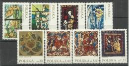 Polen 2102-2109, Satz Mit Abbildungen Von Glasmalereien, Postfrisch Mi.:,3,60 € - 1944-.... République