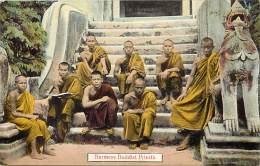 Pays Div -mynamar -burma -birmanie  - Ref G74-burmese Buddist Priests  - Carte  Bon Etat - Postcard In Good Condition - - Myanmar (Burma)