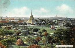 Pays Div -mynamar -burma -birmanie  - Ref G69-cantonement Gardens  - Carte  Bon Etat - Postcard In Good Condition - - Myanmar (Burma)