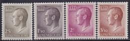 4864. Luxembourg 1966 Definitive - Grand Duke Jean, MNH (**) Michel 725-728 - 1965-91 Jean