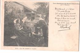 CP LES  CHANSONS DE BOTREL ILLUSTREES 315 LE FIL CASSE 2EME COUPLET  BRETAGNE (29 FINISTERE) - Musique